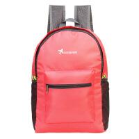 轻便携可折叠皮肤包双肩包女登山旅行徒步书包户外背包男运动包 西瓜红 20-35升