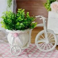 新品奶茶店塑料桌上自行车家居绿植居家装饰品干花假花放在桌面干