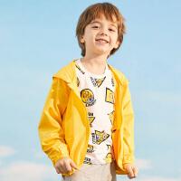【3件3折到手价:104】小猪班纳童装中大童男童外套2020夏装新款儿童皮肤衣女童上衣轻薄