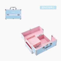 20180512023206274大号手提化妆箱包 多层美甲彩妆 带锁便携纹绣工具箱子