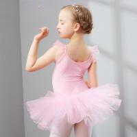 儿童舞蹈服装女童短袖练功服幼儿体操芭蕾舞裙演出服