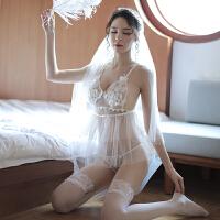 情趣内衣性感短裙蕾丝透视睡衣服露乳骚装吊带睡裙制服激情套装