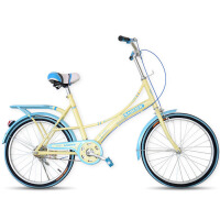 22寸女士复古韩版轻便通勤成人折叠自行车公路车公主淑女单速女式单车