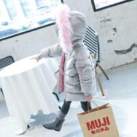 儿童冬装6韩版加厚78岁女孩棉袄女童丝绒棉衣中长款