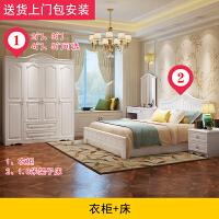 简约现代欧式经济型木质板式衣柜卧室二3三门4四门组装储物柜子 5门 组装