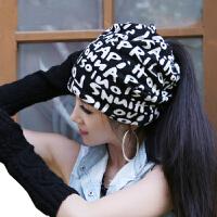 帽子女网红款时尚韩版潮月子帽产后头巾发带秋冬镂空孕妇包头帽