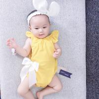 婴儿3月春季无0岁宝宝三角哈衣爬爬服新生儿外出衣服新年