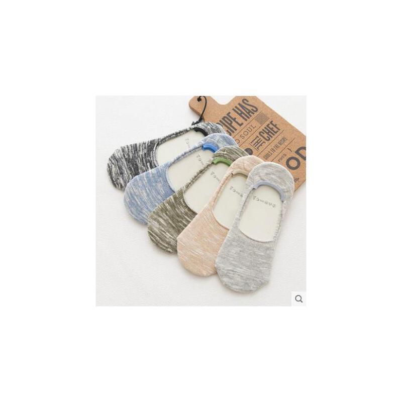 袜子男士棉袜子四季粗线原宿风条纹袜防臭袜日系竹节纱浅口隐形