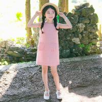 儿童无袖连衣裙女童夏季新款中童大童小清新甜美公主背心裙女孩子