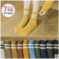 袜子女中筒袜纯棉加厚保暖女棉袜冬季加绒堆堆袜韩版学院风秋冬款