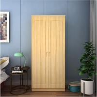 简易衣柜实木衣柜松木衣柜衣柜平开衣柜两门四门衣柜定做 2门