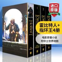 霍比特人书指环王魔戒 英文原版 The Hobbit and The Lord of the Rings 4册盒装英文版托尔金史诗奇幻小说 进口书籍