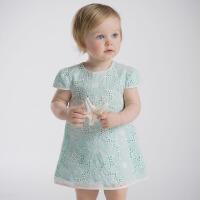 davebella戴维贝拉女童夏季新款公主宝宝短袖连衣裙25075