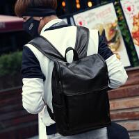12新款男士书包 潮流男包包背包韩版休闲双肩包大中学生电脑包旅行包 黑色