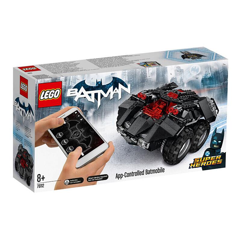 【当当自营】LEGO乐高积木超级英雄系列76112 8岁+APP遥控蝙蝠车 【年味狂想玩得欢!新春限定款更有好礼相赠!】下载智能应用,即可轻松操控蝙蝠战车!