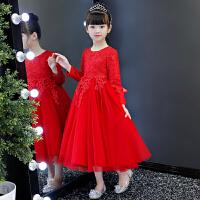 女童洋气秋装连衣裙童装儿童礼服裙子长袖秋季公主裙长裙