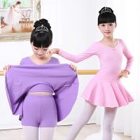 儿童舞蹈服装 女童芭蕾练功服舞裙 长袖连体 幼儿考级体操表演服