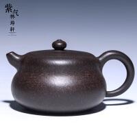 紫气林坤� 原矿黑金刚 葫芦福禄紫砂壶 宜兴茶壶 茶具 名家全手工