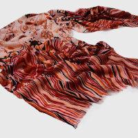 欧美时尚个性印花短穗围巾羊毛60支女士围巾
