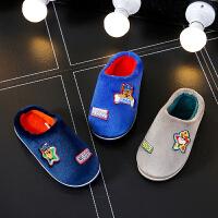 男童拖鞋冬室内防滑儿童专用卡通可爱中大童软底家用棉拖鞋