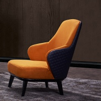 懒人沙发卧室小型可爱单人咖啡椅寝室老虎椅实木迷你休闲椅榻榻米 休闲椅 如图色 单人
