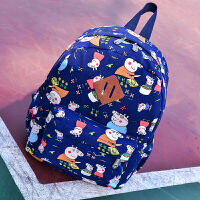 女款宝宝包包5岁男童幼儿园大班书包3-6岁旅游背包双肩包潮 蓝色 3-6岁
