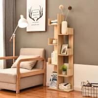 简易书架置物架现代简客厅落地树型创意小孩实木组合小书柜