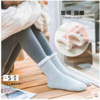 毛袜子女冬季加厚加绒成人地板袜冬天保暖睡觉睡眠月子毛绒中筒袜