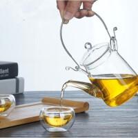 耐高温不锈钢过滤玻璃提梁壶 泡茶壶 花茶壶水壶 玻璃茶壶 水杯