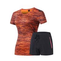 印logo新款运动休闲套装情侣速干衣裤套服时尚户外跑步健身服 X