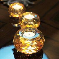 烛光晚餐套装水晶玻璃小蜡烛台 香薰烛台 浪漫求婚烛光晚餐道具小烛台摆件