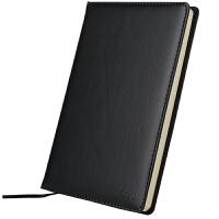 得力3162笔记本商务办公记事本 优质皮革面本皮面本通用笔记本