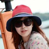 草编小礼帽海边度假沙滩帽子情侣潮韩版女士遮阳帽太阳帽草帽