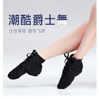 高帮帆布爵士靴儿童软底舞蹈鞋成人新款练功鞋女现代舞鞋芭蕾舞鞋