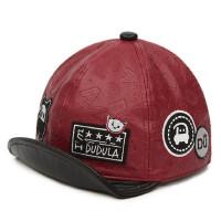 儿童鸭舌帽皮帽子男女童棒球帽宝宝遮阳帽 翘舌帽童帽