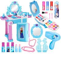 D 儿童梳妆台女孩公主冰雪奇缘玩具女童化妆台行李箱礼 ―送化妆盒(可真实涂抹)