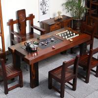 老船木茶桌椅组合茶台实木新中式家具仿古办公泡茶几小茶艺桌简约 整装