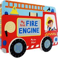 儿童汽车书英文原版 Whizzy Wheels My First Fire Engine 纸板书 消防车
