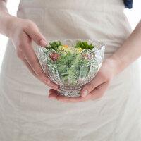 奇居良品 现代简约家居摆件 米娜透明玻璃碗状小食碟糖果盅6件套