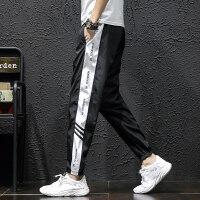 男士裤子潮流新款大码休闲裤男人学生运动裤夏季薄款束脚宽松长裤