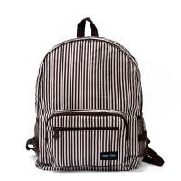 ,单色!旅行可折叠双肩包女包背包包皮肤包轻薄款新品 棕色条纹(单色) 20-35升