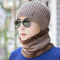户外男士帽子保暖加绒毛线帽 防风保暖护耳包头帽新款加厚套头帽子男