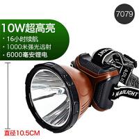 LED头灯强光充电式矿灯超亮户外夜钓鱼灯头戴式电筒家用黄光