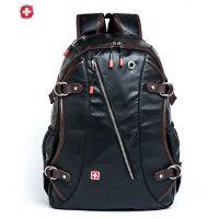 瑞士军刀 时尚斜链大容量双肩包电脑包男士 背包旅行包出现包潮SA9807