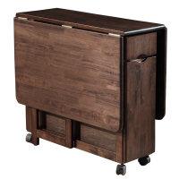 全实木折叠餐桌 北欧大小户型餐厅家具餐桌椅组合储物