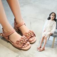 女童凉鞋夏季公主鞋中大童宝宝凉鞋儿童沙滩鞋子