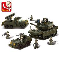 【满200减100】小鲁班陆军部队军事系列儿童益智拼装积木玩具 陆战队M38-B6800