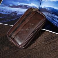 中年手机包男士穿皮带5.5寸多功能老人机腰挂包横款腰包