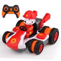 遥控车赛车汽车特技酷汪漂移电动四驱卡丁车儿童玩具