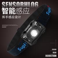 强光感应头灯充电超亮多功能头戴式LED夜钓鱼头灯 HL06